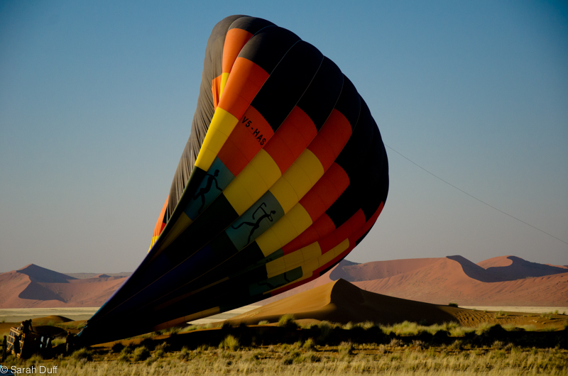 Hot air balloon, Namib Desert, NamibRand, Namibia