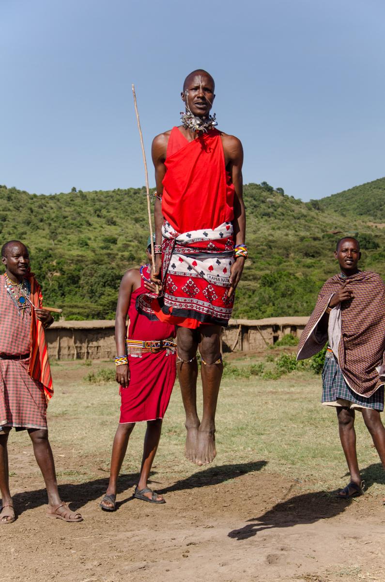 Masaai dancing, Kenya