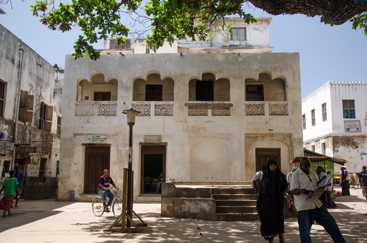 Lamu Town's main square, Lamu Island, Kenya