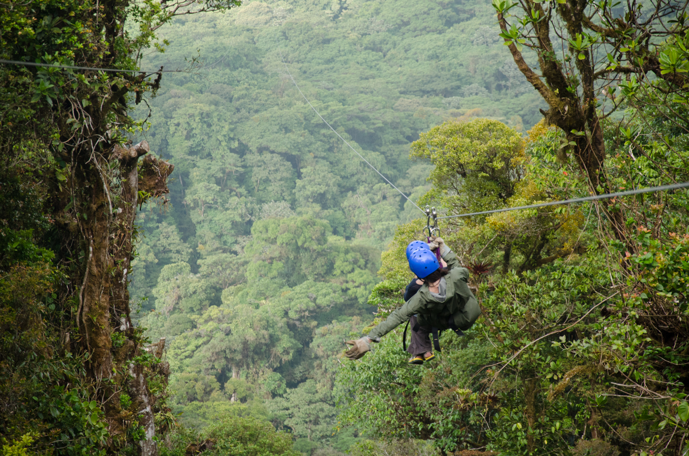 Ziplining in Monteverde Cloud Forest, Costa Rica
