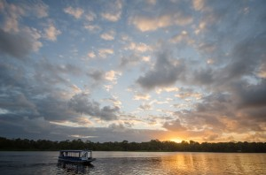 Sunset in Tortuguero National Park, Costa Rica