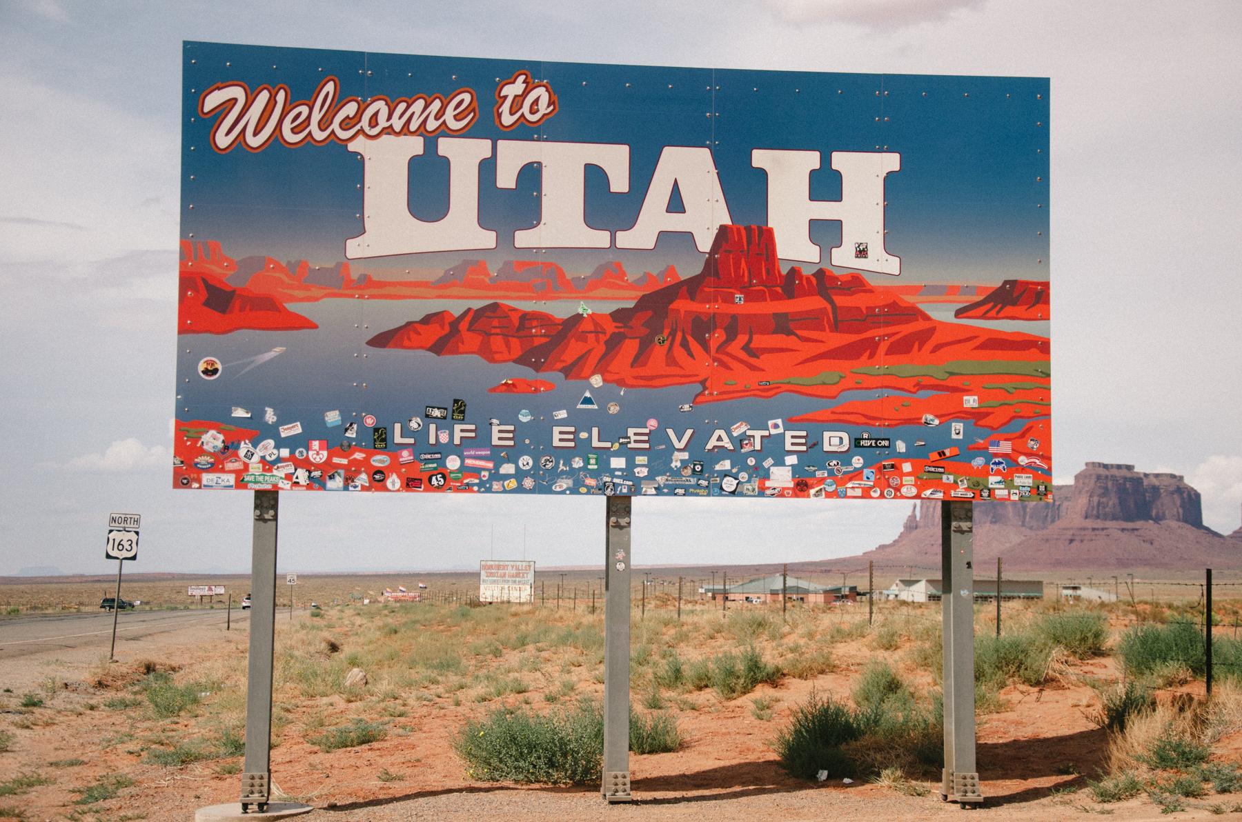 Utah has the best welcome sign of all the states we drove through.