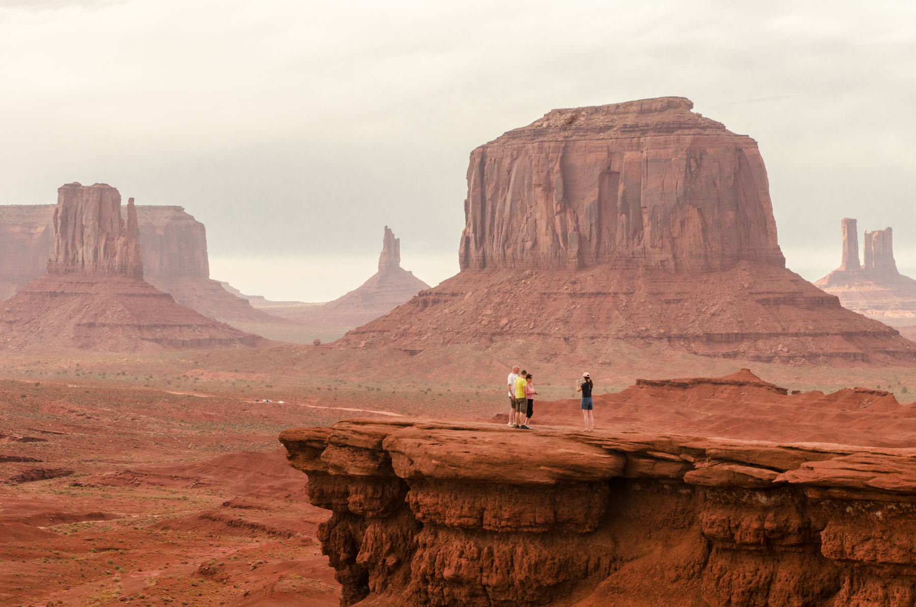 Monument Valley was spectacular, even in a dust storm so severe we could only see a few metres in front of us.