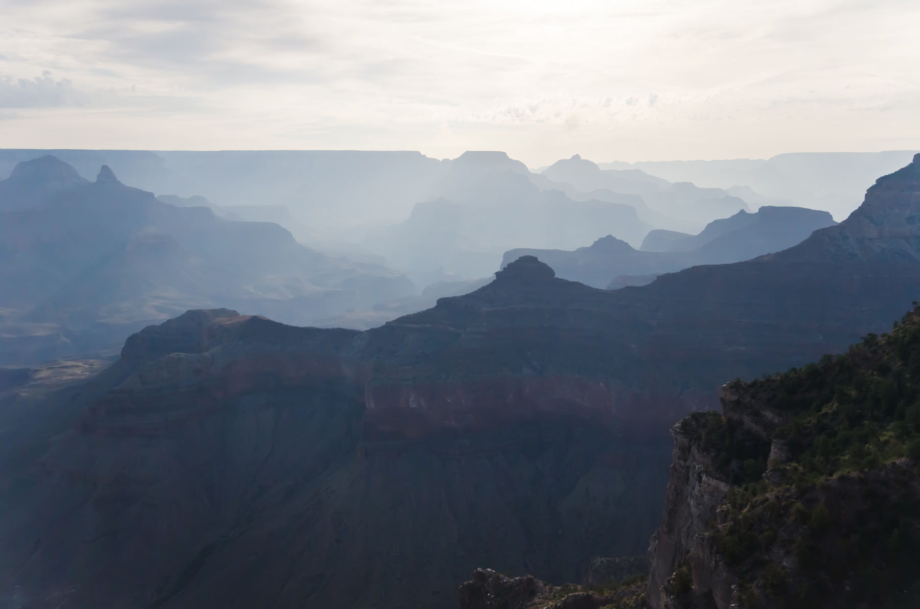 The magical Grand Canyon just after sunrise.