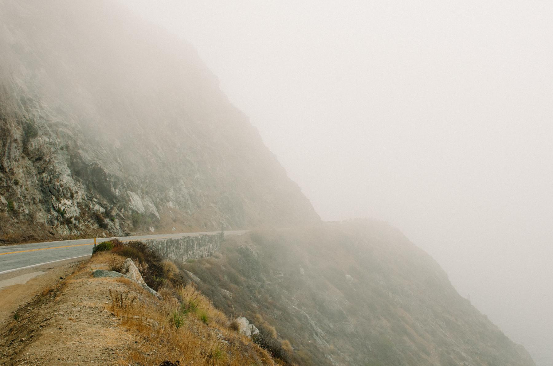 Misty-cliffed Big Sur.
