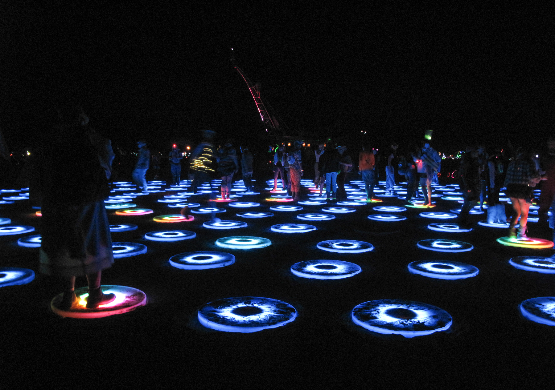 The Superpool: LED lilypads that lit up when you stepped on them. People were running around, laughing and screaming and I felt like were all about five years old again.