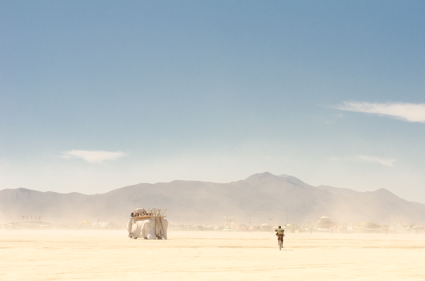 Dust storms at Burning Man are beautiful but painful on the eyes and the camera lenses.