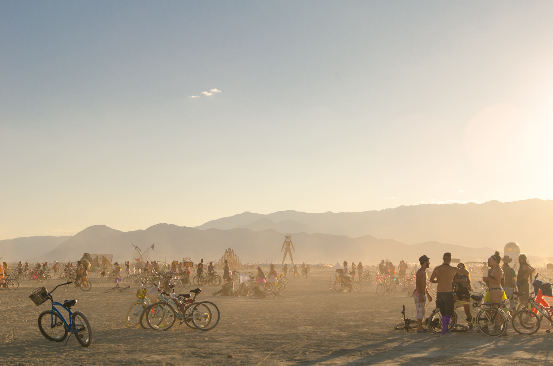 The Playa at sunset: when the dust and golden light combine to create something truly magical that's over in less than an hour.