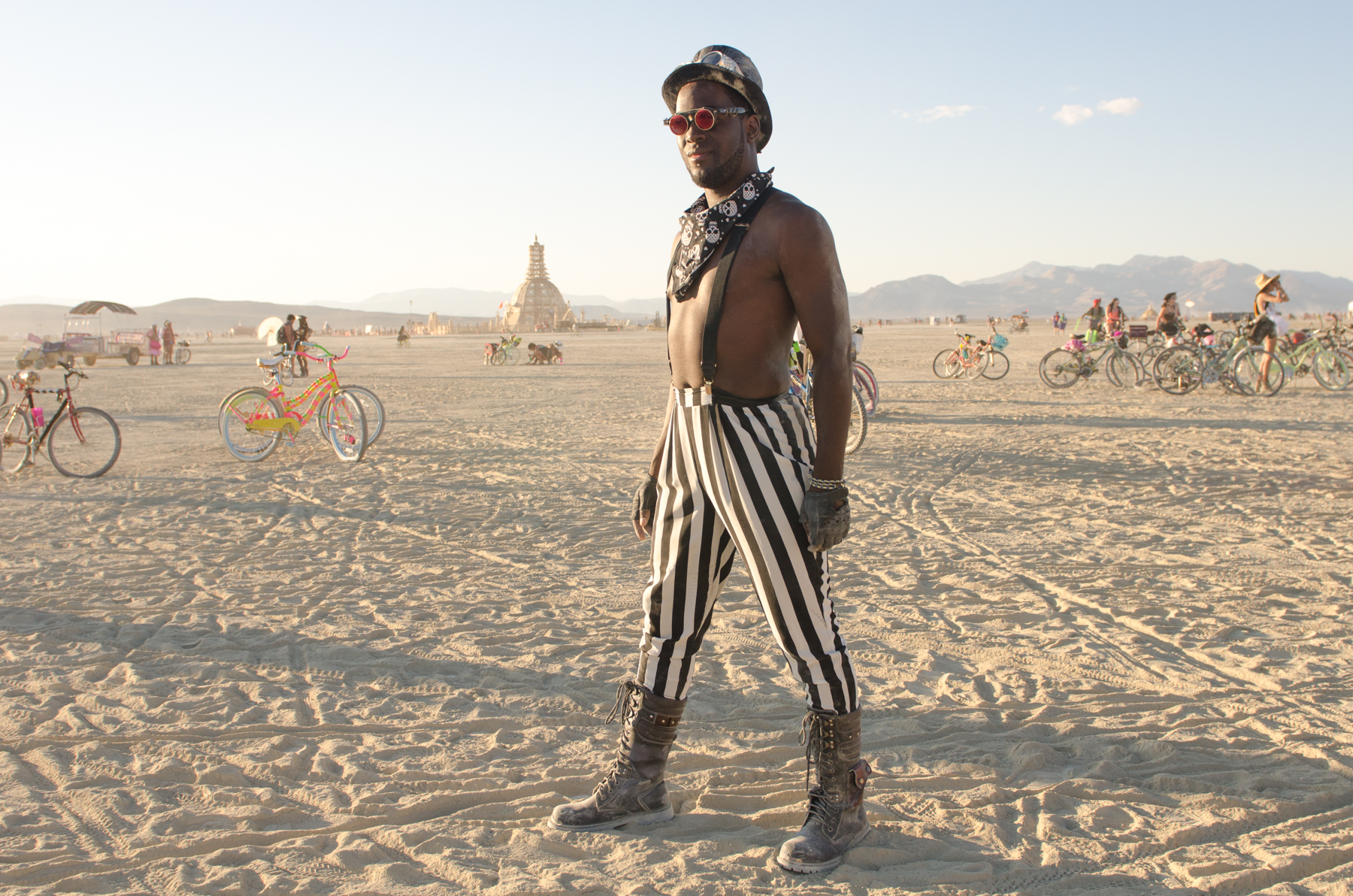 "If I'd had more time I would have loved to do a ""Humans of Burning Man"" series and interviewed every interesting-looking person I came across (which was thousands of people)."