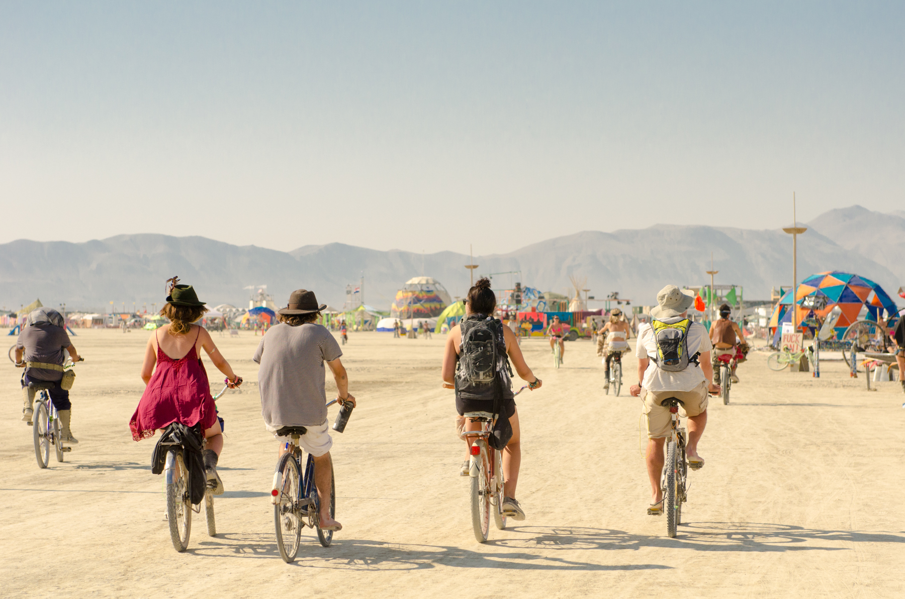 I was glad I bought a bicycle to take to Burning Man - it would take you hours to walk around the city without wheels.