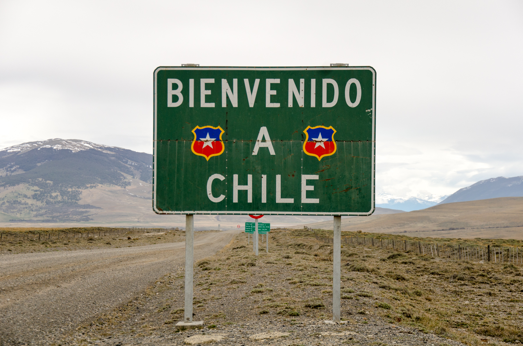 Crossing the Chilean border