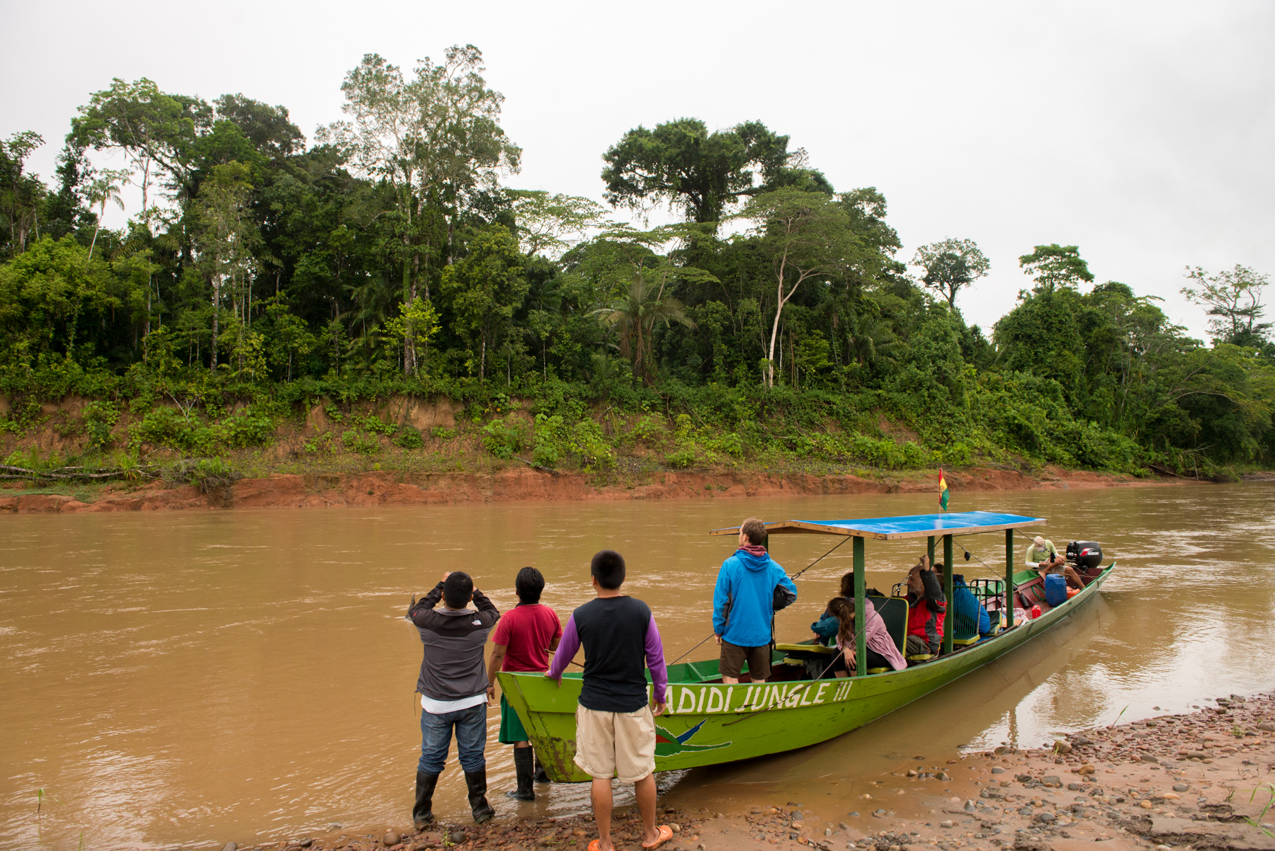 Boat cruise Madidi National Park, Bolivia