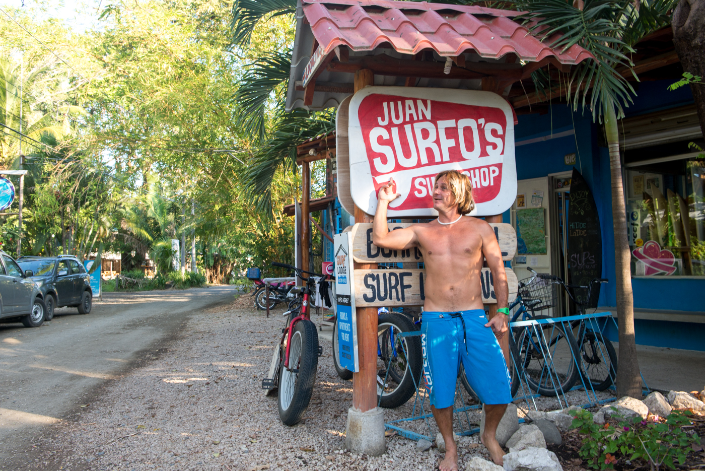 Juan Surfo's surf shop, Nosara