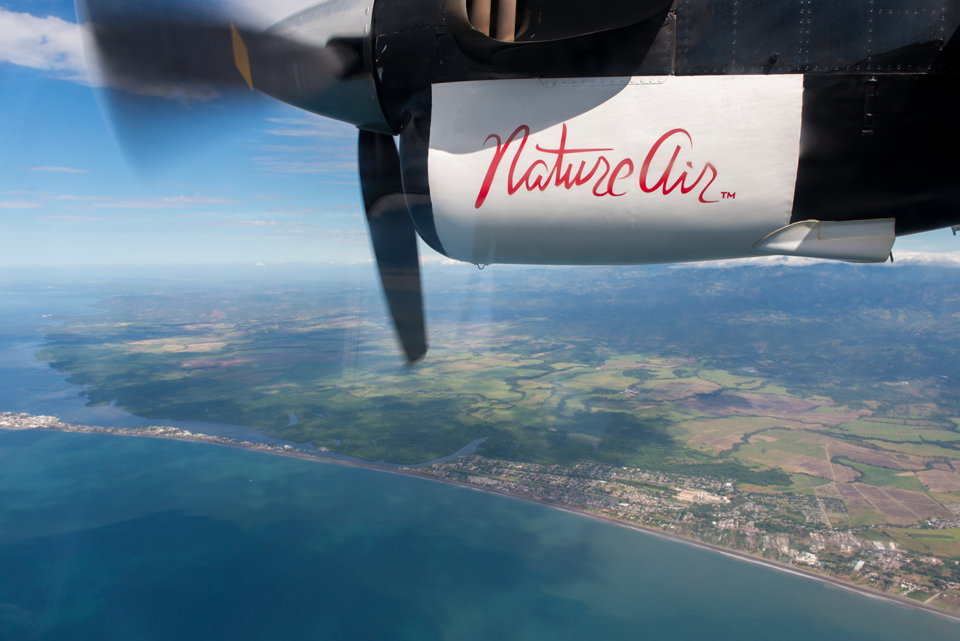 Flying to Nosara on Nature Air