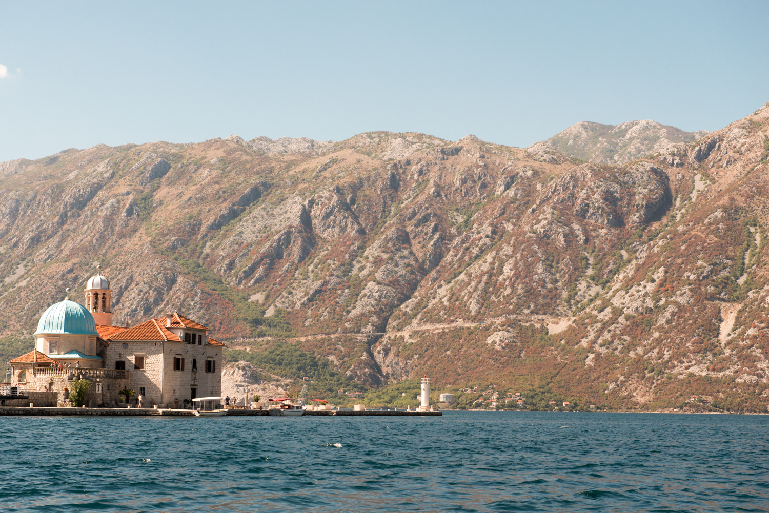 Our Lady of the Rocks island, with its beautiful little church, lies just off the coast from Perast